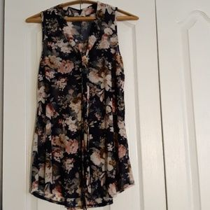 Tops - Semi transparent flowy floral maternity top